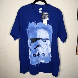 UniQlo Star Wars Stormtrooper T-Shirt Blue Size L